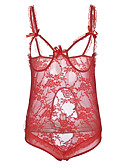 cheap Women's Nightwear-Women's Babydoll & Slips Nightwear - Lace, Solid Colored