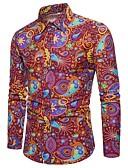 זול חולצות לגברים-קולור בלוק / פייסלי / להסוות חולצה - בגדי ריקוד גברים דפוס