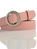 cheap Women's Belt-Women's Work Skinny Belt - Solid Colored