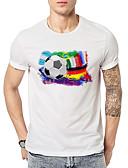 ieftine Maieu & Tricouri Bărbați-Bărbați Rotund Tricou Sport Activ / De Bază - Bloc Culoare Imprimeu / Manșon scurt