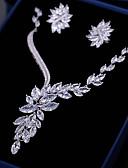 preiswerte Brautmutter Kleider-Damen Kubikzirkonia Nicht übereinstimmend Schmuck-Set - Blattform, Blume Modisch Einschließen Tropfen-Ohrringe / Anhängerketten Weiß Für Hochzeit / Verlobung