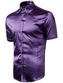 tanie Męskie koszule-Koszula Męskie Podstawowy Bawełna Solidne kolory / Krótki rękaw