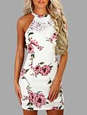 baratos Calças e Saias-Mulheres Tubinho Vestido Floral Mini