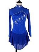 cheap Ice Skating Dresses , Pants & Jackets-Figure Skating Dress Women's Ice Skating Dress Royal Blue Stretchy Training / Competition Skating Wear Quick Dry, Anatomic Design Classic Long Sleeve Ice Skating / Outdoor Exercise / Figure Skating