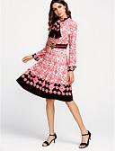 tanie Sukienki-Damskie Bawełna Spodnie - Kolorowy blok Nadruk Rumiany róż