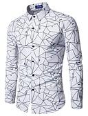 رخيصةأون قمصان رجالي-قميص رجالي - طوق قميص هندسي