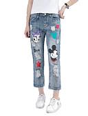 ieftine Pantaloni de Damă-Pentru femei Bumbac / Poliester Larg Harem Pantaloni Animal / Ieșire