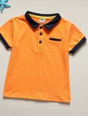 tanie Topy dla chłopców-Brzdąc Dla chłopców Aktywny Jendolity kolor Krótki rękaw T-shirt