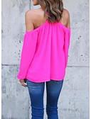 tanie T-shirt-T-shirt Damskie Bateau Jendolity kolor