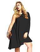 זול הלבשה תחתונה אופנתית-בגדי ריקוד נשים סגנון רחוב מידות גדולות משוחרר מכנסיים - אחיד שחור / כתפיה אחת / סירה רחב / סקסית