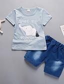 cheap Women's Dresses-Toddler Boys' Cat Print Short Sleeve Clothing Set