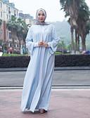 cheap Socks & Hosiery-Women's Daily / Work Vintage / Basic Maxi Loose Abaya / Jalabiya Dress - Solid Colored / Color Block Lace up / Pearl High Waist Summer Wine Light Blue Khaki L XL XXL