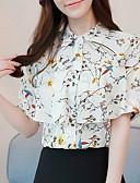 ieftine Bluză-Pentru femei Bluză De Bază - Floral Imprimeu