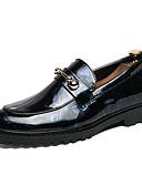 cheap Men's Shirts-Men's Dress Shoes Leatherette Summer Comfort Loafers & Slip-Ons Color Block Black / Blue / Burgundy
