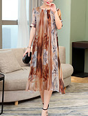 baratos Vestidos Femininos-Mulheres Vintage Evasê Vestido - Renda, Listrado Médio