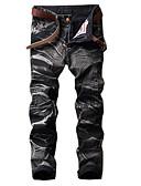 baratos Abrigos e Moletons Masculinos-Homens Vintage / Básico Tamanhos Grandes Algodão Solto Jeans / Chinos Calças - Listrado / Estampa Colorida / camuflagem