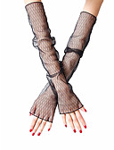 cheap Women's Gloves-Women's Cute / Party Fingerless Gloves - Striped Lace