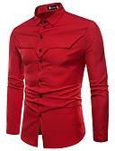 זול חולצות לגברים-אחיד בסיסי חולצה - בגדי ריקוד גברים