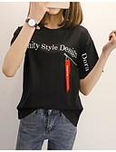 ieftine Tricou-tricou pentru femei - gât rotund cu litere