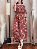 رخيصةأون تنانير نسائية-ورد / منقوش - ثياب خارجية فضفاضة أناقة الشارع / بوهو للمرأة