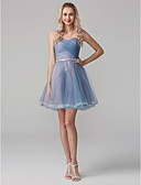 cheap Cocktail Dresses-A-Line Sweetheart Neckline Short / Mini Tulle Prom Dress with Sash / Ribbon / Criss Cross by TS Couture®