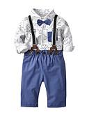 povoljno Kompletići za dječake-Dijete koje je tek prohodalo Dječaci Aktivan / Osnovni Print Print 3/4 rukava Rabbit Fur / Pamuk Komplet odjeće