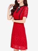זול שמלות נשים-מעל הברך אחיד - שמלה צינור בגדי ריקוד נשים