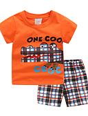 preiswerte Hosen & Leggings für Mädchen-Kinder / Baby Mädchen Druck Kurzarm Kleidungs Set