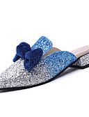 preiswerte Unterröcke für Hochzeitskleider-Damen Stoff Sommer Komfort Cloggs & Pantoletten Niedriger Heel Runde Zehe Schleife Schwarz / Purpur / Königsblau