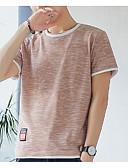 ieftine Maieu & Tricouri Bărbați-Bărbați Rotund Tricou Bumbac De Bază - Bloc Culoare / Manșon scurt