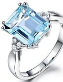 זול טישרט-בגדי ריקוד נשים אקוומרין סינתטי / זירקונה מעוקבת ארוך טבעת הטבעת - וינטאג', אלגנטית 6 / 7 / 8 כחול בהיר עבור חתונה / ארוסים / טקס