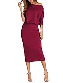 preiswerte Abendkleider-Damen Bodycon Kleid Midi