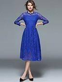ieftine Regina Vintage-Pentru femei Vintage / Sofisticat Swing Rochie - Dantelă / Decupată / Plisată, Mată / Geometric Lungime Genunchi