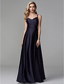 cheap Prom Dresses-A-Line Spaghetti Strap Floor Length Charmeuse / Satin Chiffon Beautiful Back Prom / Formal Evening Dress with Beading / Side Draping by TS Couture®