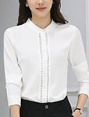 baratos Blusas Femininas-Mulheres Blusa Vintage Franjas, Sólido Preto & Branco