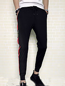 זול טישרטים לגופיות לגברים-בגדי ריקוד גברים כותנה מכנסי טרנינג מכנסיים אחיד / פסים