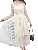 preiswerte Damen Kleider-Damen Hülle Kleid Solide Übers Knie