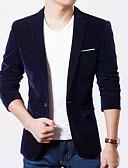 זול בלייזרים וחליפות לגברים-גברים של עבודה בלייזר - מוצק צווארון חולצה צבעונית