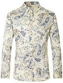 זול חולצות לגברים-פרחוני צווארון קלאסי מידות גדולות כותנה, חולצה - בגדי ריקוד גברים / אנא בחר\י מידה אחת גדולה יותר מהמידה הנורמלית שלך. / שרוול ארוך