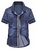 זול חולצות לגברים-קולור בלוק בסיסי חולצה - בגדי ריקוד גברים טלאים