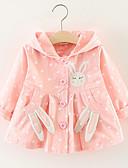 levne Dětské bundičky a kabátky-Dítě Dívčí Základní Jednobarevné Dlouhý rukáv Standardní Polyester Tenčkoty Světlá růžová / Toddler