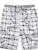 cheap Men's Pants & Shorts-Men's Basic Plus Size Daily Shorts Pants - Check Navy Blue Yellow Light Blue XXL XXXL XXXXL / Fall