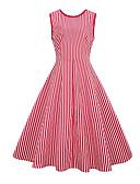 ieftine Rochii de Damă-Pentru femei De Bază Zvelt Pantaloni - Dungi Roșu-aprins