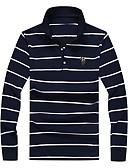 זול חולצות פולו לגברים-פסים צווארון חולצה פשתן, Polo - בגדי ריקוד גברים / אנא בחר\י מידה אחת גדולה יותר מהמידה הנורמלית שלך. / שרוול ארוך