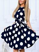 povoljno Ženske haljine-Žene Vintage Hlače - Na točkice Print Blushing Pink / Izlasci