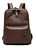 cheap Men's Ties & Bow Ties-Men's Bags PU(Polyurethane) Backpack Zipper Brown / Black