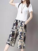 ieftine Tricou-Pentru femei Activ / Chinoiserie Set - Mată / Geometric, Pantaloni