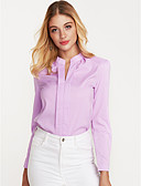cheap Women's Blazers & Jackets-Women's Work Street chic Blouse - Solid Colored Crew Neck