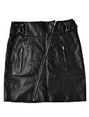tanie Damska spódnica-Damskie Sztuczna skóra Bodycon Spódnice - Wyjściowe Jendolity kolor Wysoka Talia