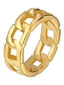 preiswerte Luxusuhren-Herrn Knöchel-Ring Edelstahl Modisch Moderinge Schmuck Gold / Schwarz / Silber Für Geschenk Alltag 7 / 8 / 9 / 10 / 11